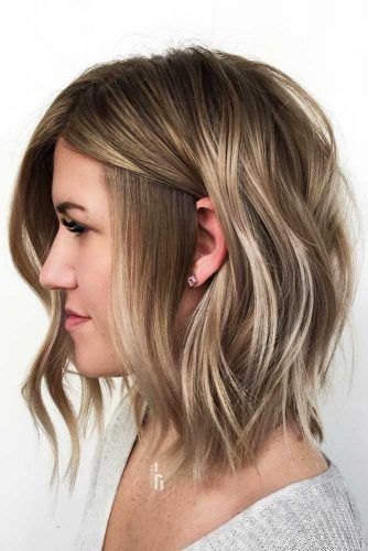 Long-Bob-With-Highlights-mediumhairstyles-for-thick-hair 15 Graceful Medium Length Haircuts for Thick Hair