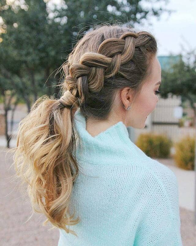 Loose-Side-Braided-Ponytail-Hairstyle Glamorous Dutch Braid Hairstyles to Try Now