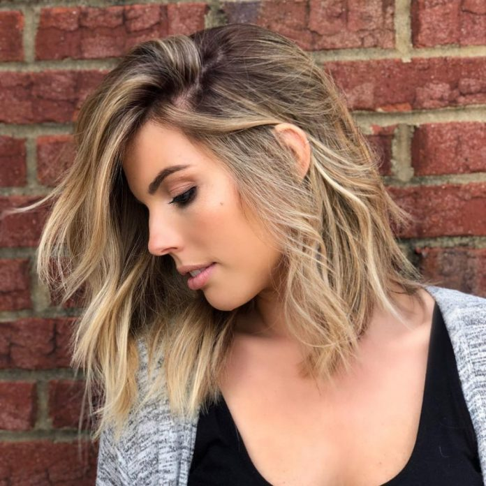 Medium-Length-Bob-with-a-Blonde-Lick Most Trendy and Terrific Medium Hairstyles 2020