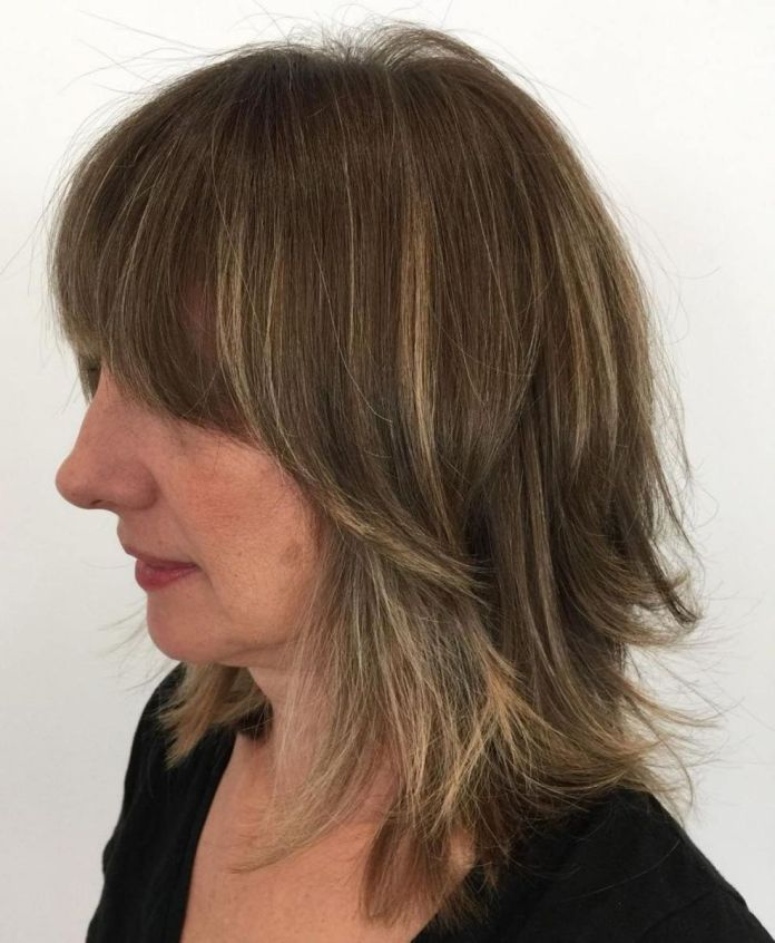 Modern-Shag-with-Flipped-Ends Shaggy Hairstyles for Women with Fine Hair over 50