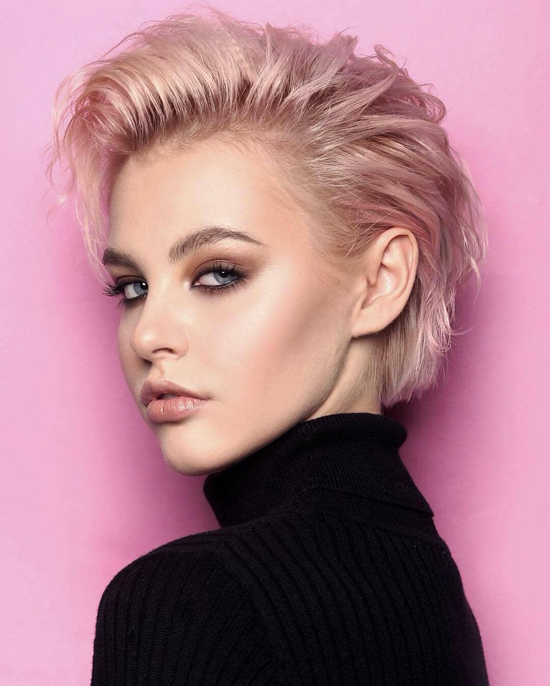 Pink-Blonde-Haircut Roaring and Attractive Short Hairstyles 2020