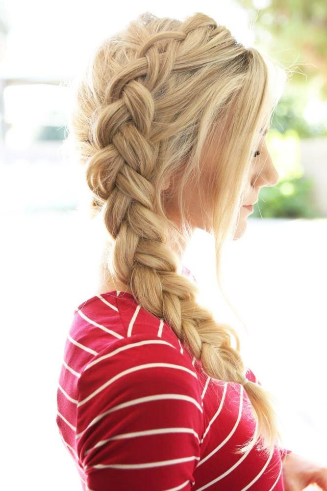 Piping-Side-Trail-Dutch-Hairstyle Glamorous Dutch Braid Hairstyles to Try Now