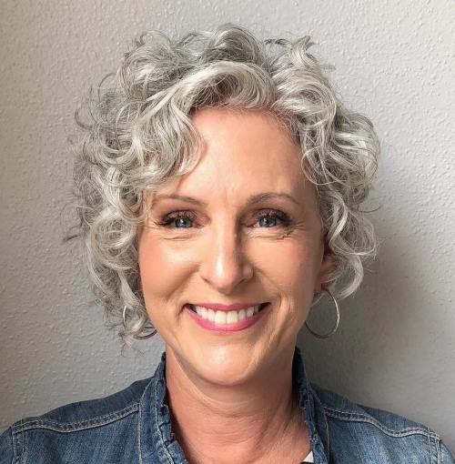 Pixie-Bob-with-Silver-Ringlets 12 best pixie hairstyles for women over 50