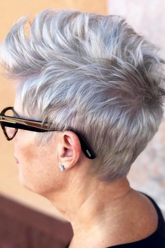 Platinum-Punky-Pixie Elegant Pixie Hairstyles For Women over 50