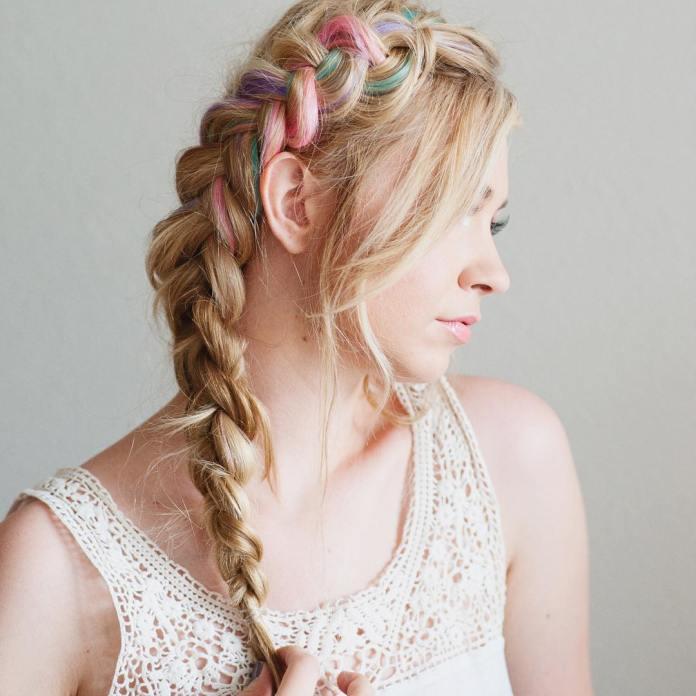 Rainbow-Dutch-Braid-Hairstyle Glamorous Dutch Braid Hairstyles to Try Now