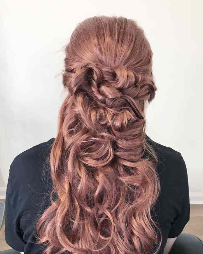 Rose-Curls-Long-Hairstyles Trendy and Stunning Long Hairstyles 2020