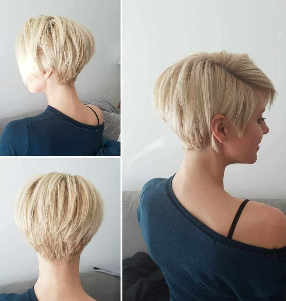 Rounded-Ash-Blonde-Haircut Roaring and Attractive Short Hairstyles 2020
