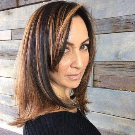 Sassy-Side-Bang 15 winning-looks short hairstyles for Women Over 40