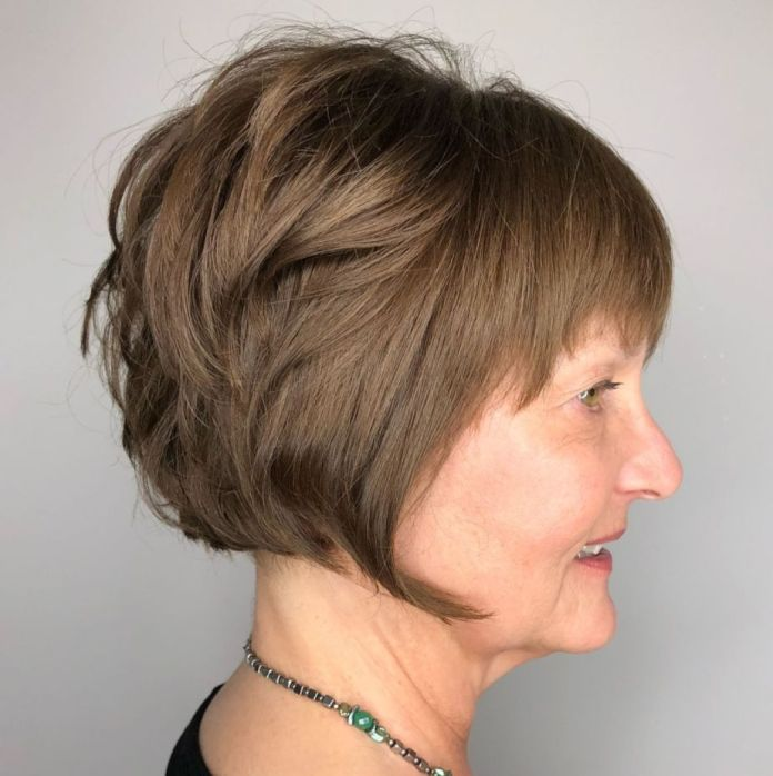 Shaggy-Disconnected-Bob-over-50 Shaggy Hairstyles for Women with Fine Hair over 50