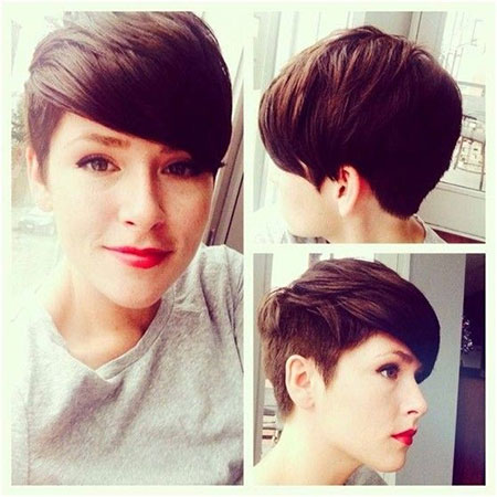 Short-Side-Swept-Pixie-Hairstyle Cute Short Hairstyles