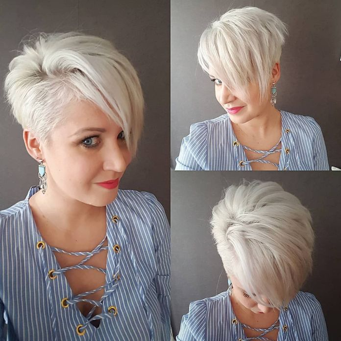 Side-Parted-Pixie-Haircut Roaring and Attractive Short Hairstyles 2020