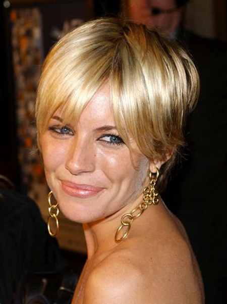 Sienna-Miller's-Fantastic-Bob-Cut Celebrity Short Hairstyles for Women