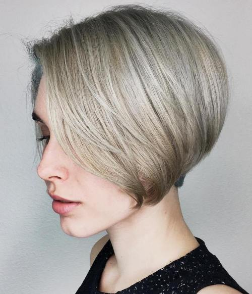 Silky-Stacked-Bob-2 14 stunning Short Haircuts and Hairstyles for Fine Hair