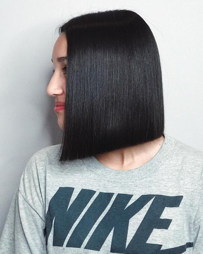 Sleek-Black-Hairstyle Roaring and Attractive Short Hairstyles 2020