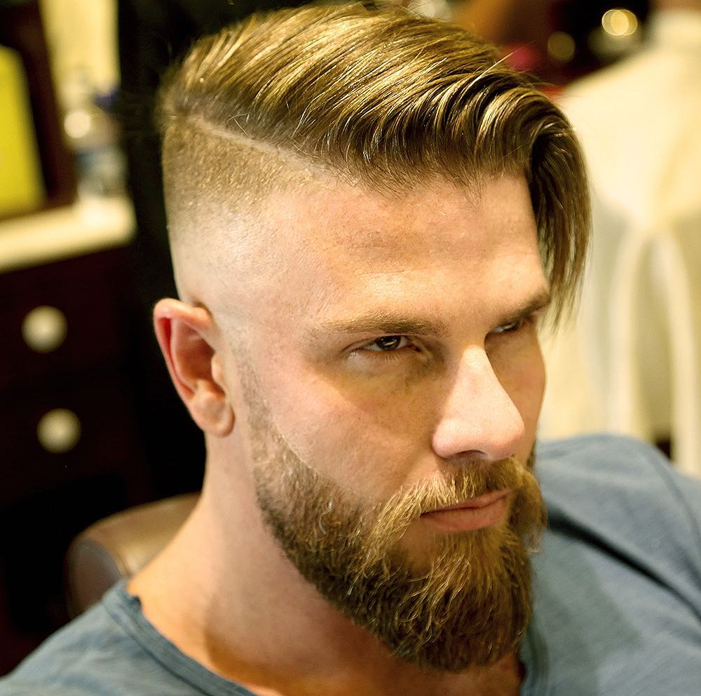 Very-Long-and-Bald-Like-Disconnected-Undercut Most Stylish Hairstyles with Disconnected Undercut
