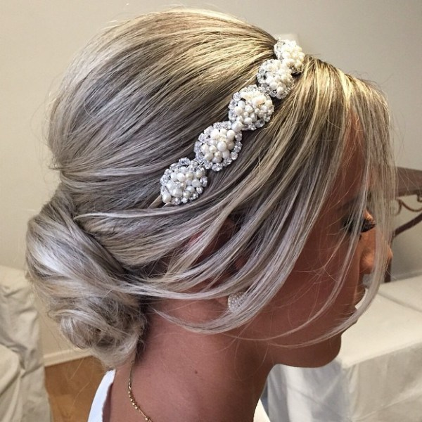 Wedding-Day-Bun Quick and Easy Short Hair Buns to Try