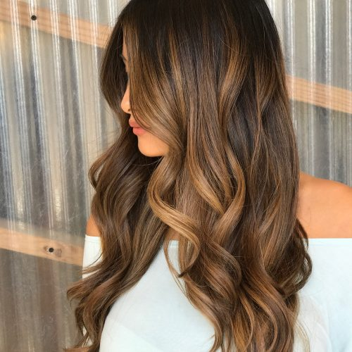 cool-caramel-highlights 14 gorgeous Hairstyles and Haircuts for Long Straight Hair