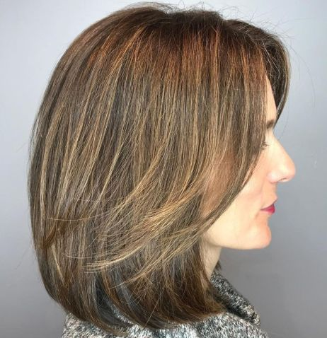 long-bob-with-side-bangs-for-thick-hair 15 Graceful Medium Length Haircuts for Thick Hair