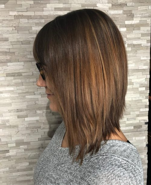 Angled-long-bob-with-layers 13 On-trend Bobs and their variations in 2020