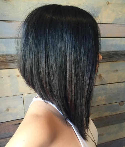 Asymmetrical-Bob Most Hottest and Sexiest Long Bob Haircuts