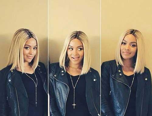 Beyonce-Nice-Shoulder-Length-Bob-Hair Nice Short Bobs for Black Women