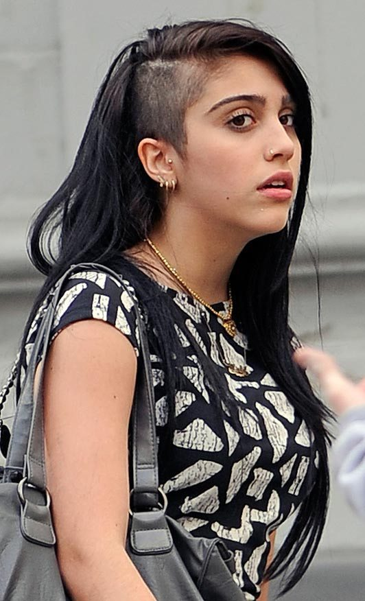 Black-Beauty Brilliant Half Shaved Head Hairstyles for Young Girls