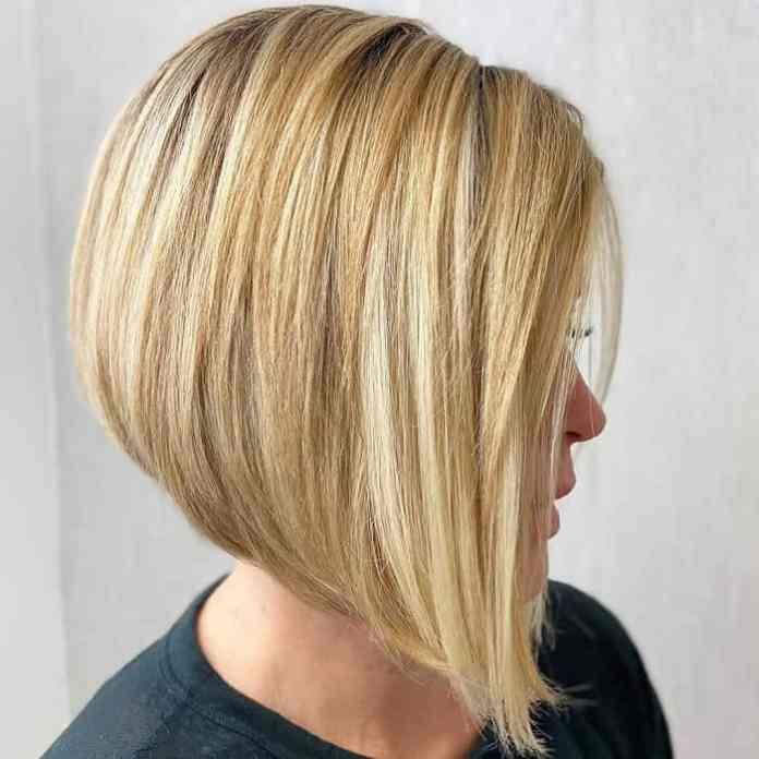 Blonde-A-Line-Bob Best A-Line Bobs You Need to Try (Trending for 2020)