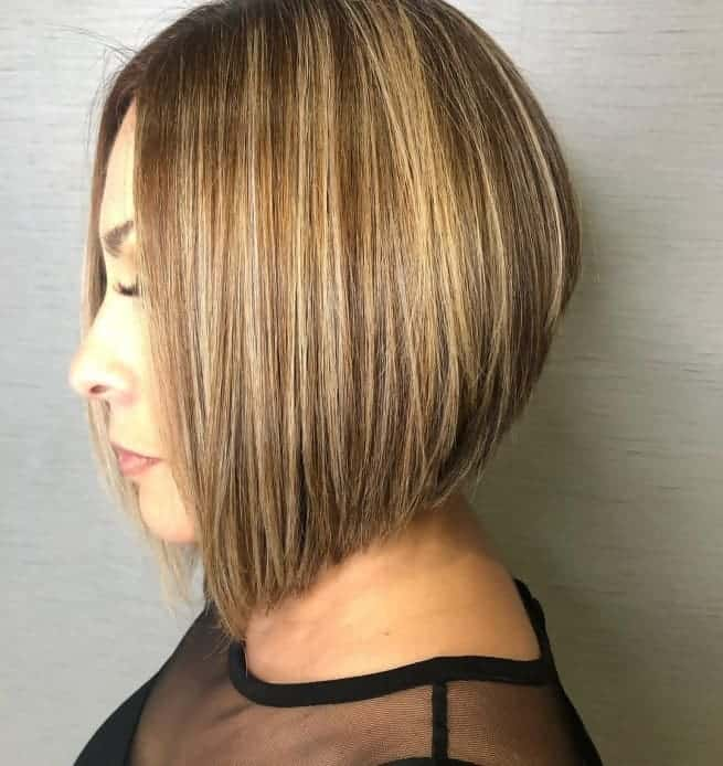 Blonde-Lowlights Best A-Line Bobs You Need to Try (Trending for 2020)