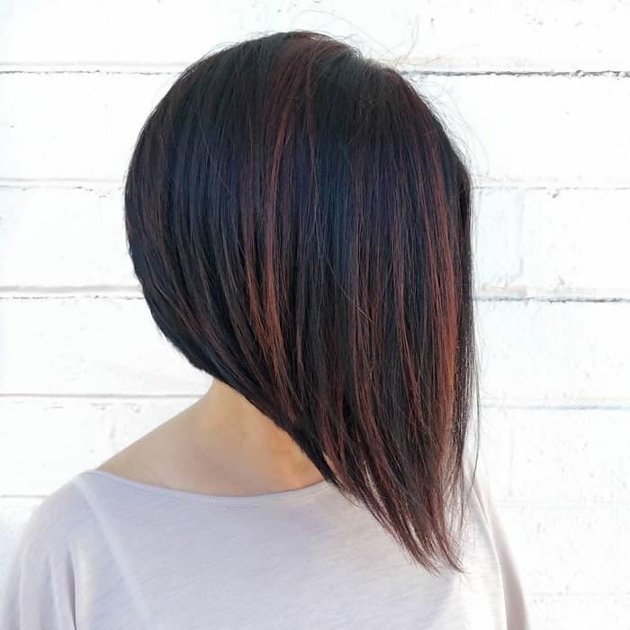 Bob-with-Copper-Highlights Best A-Line Bobs You Need to Try (Trending for 2020)