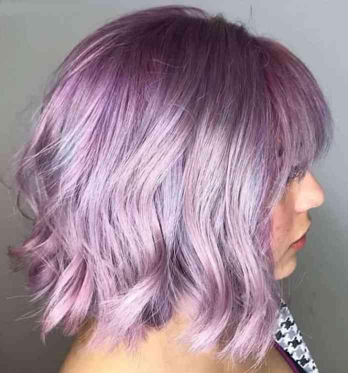 Bob-with-Lavender-Purple-Hair Amazing Medium Length Bob Hairstyles to Explore