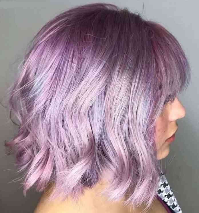 Bob-with-Lavender-Purple-Hair Amazing Medium Length Bob Hairstyles to Explore