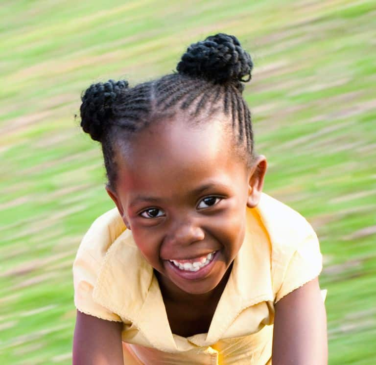 Braided-Space-Buns Cutest Braided Hairstyles for Little Girls Right Now