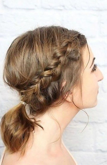 Casual-Updo 15 Super Chic Updo Ideas for Short Hair
