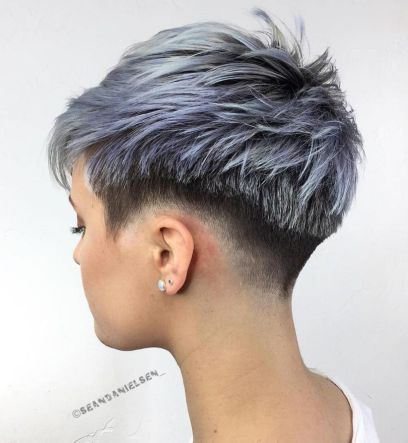 Choppy-Pixie-Fade 10 On-trend Pixie haircuts in 2020