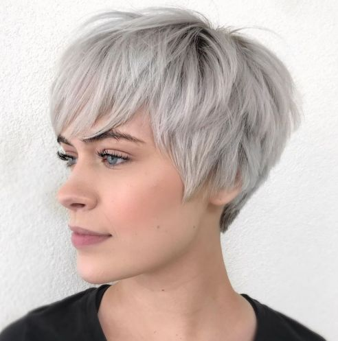 Choppy-Silver-Pixie 12 Pixie Haircuts for Thick Hair that will inspire your next cut