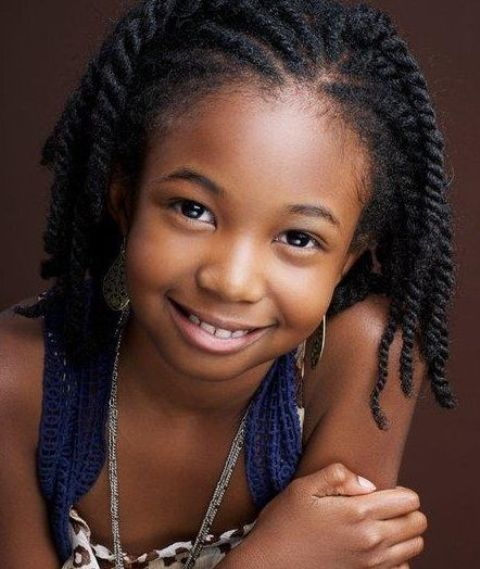 Chunky-Twists Cutest Braided Hairstyles for Little Girls Right Now
