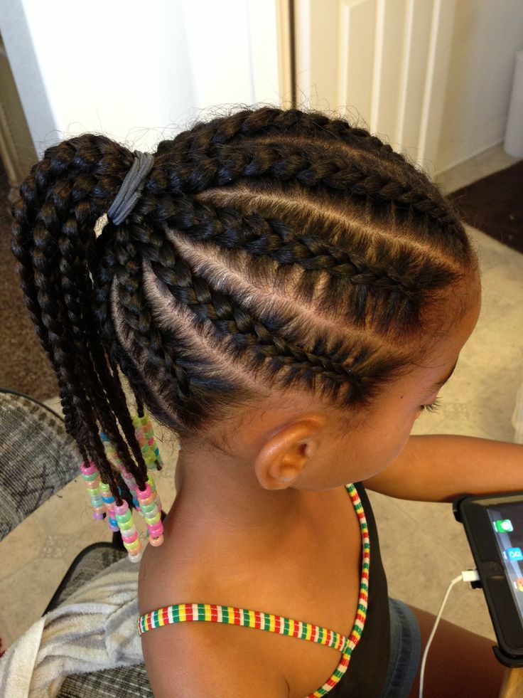 Classic-High-Braided-Pony Cutest Braided Hairstyles for Little Girls Right Now