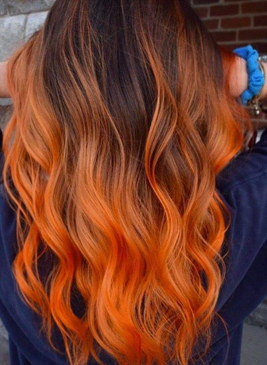 Classy-Orange-Ombre Orange Ombre Hair – 12 Revolutionary Ideas to Rock