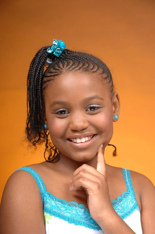 Cornrows-with-a-High-Pony Cutest Braided Hairstyles for Little Girls Right Now