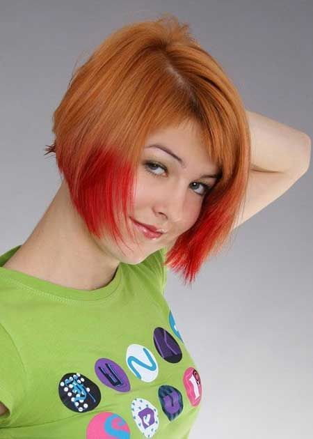 Creative-color-play Captivating Inverted Bob Hairstyles That Can Keep You Out of Trouble