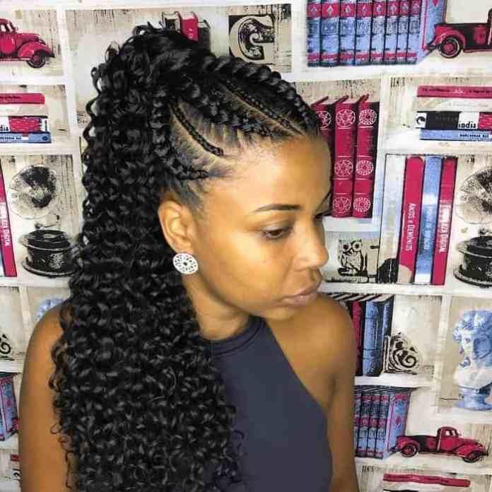 Crochet-Braided-Ponytail Stunning Ponytail Hairstyles for Black Women