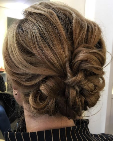 Cute-Looped-and-Pinned-Updo 15 Super Chic Updo Ideas for Short Hair