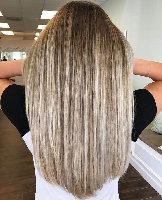 Dark-to-Honey-Blonde Enthralling Long and Straight Hair Ombre for Women