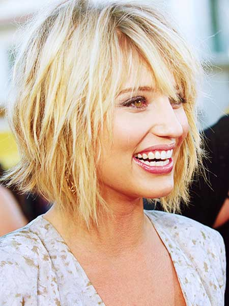 Dianna-Agron-Layered-Bob-Hairstyle Bob Hair Styles for 2020
