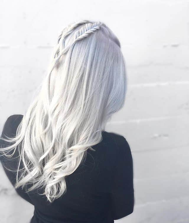 Double-Fishtail-Braids Icy Blonde Hairstyles That'll Convince You to Go White