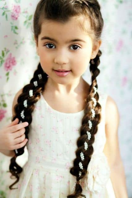 Dutch-Braids Cutest Braided Hairstyles for Little Girls Right Now