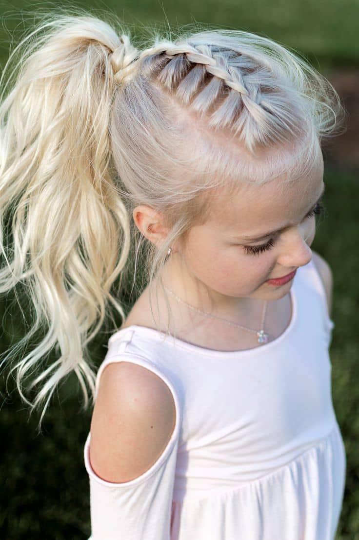 Faux-Hawk-French-Braid Cutest Braided Hairstyles for Little Girls Right Now