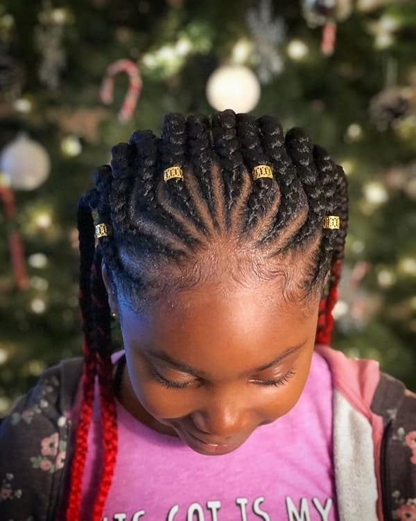 Feed-In-Braids Cutest Braided Hairstyles for Little Girls Right Now