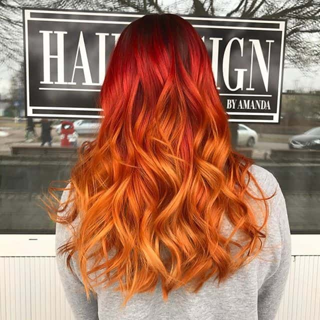 Fire-Ombre Orange Ombre Hair – 12 Revolutionary Ideas to Rock