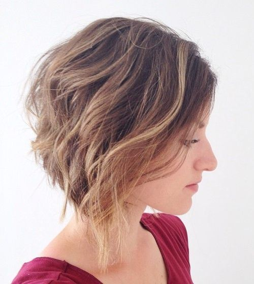 Flowing-Waves-–-Short-Ombre Hottest inverted Bobs Hairstyles 2020